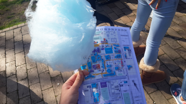 map of the campus + (free) candy floss!