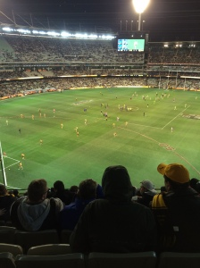 Watching Footy at MCG